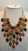 Joan Rivers Stunning Bib 18 Necklace W/3 Extender Neutral
