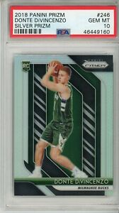 2018-19-Prizm-Silver-Donte-DiVincenzo-246-PSA-10-RC-Rookie-Milwaukee-Bucks