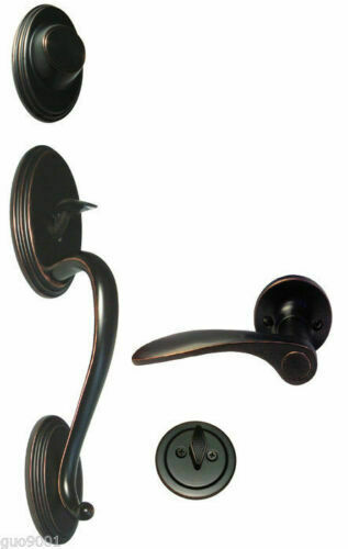 Oil Rubbed Bronze Door Handle Lock Lever knobs keyed passage privacy Hardware