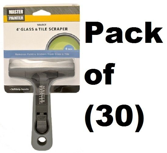 (30)  Allway Master Painter GTS 4  Soft Grip Wide Glass & Tile Blade Scrapers