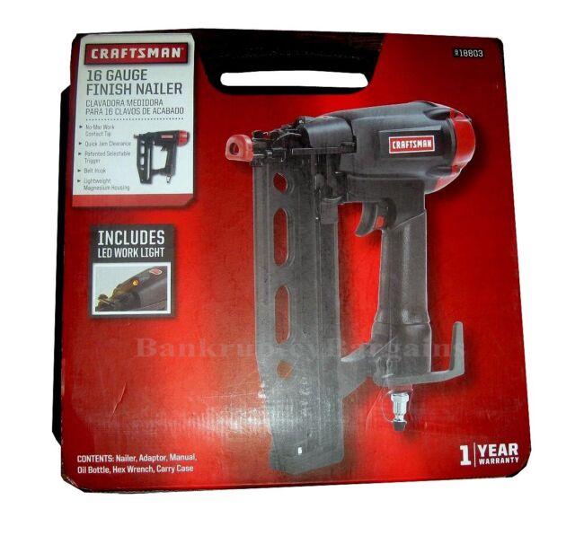 Craftsman 16 Gauge 3/4-2 1/2 Magnesium Straight Finish Nailer Case ...