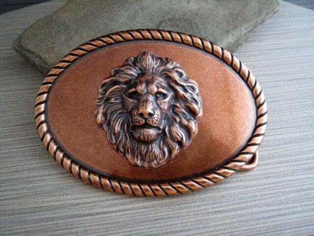 Handmade Copper Steampunk Lion Belt Buckle