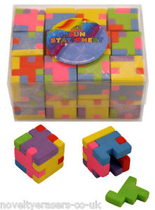 Novelty Puzzle Eraser/Rubbers - Cube Puzzle Erasers - Party Bag Gift Filler