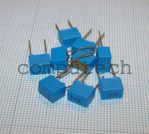 10 piece polypropylene capacitor 330pf 100v 5/% ERO Roederstein kp1830 5mm