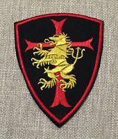 St6 Navy Seal Team 6 Devgru Gold Squadron Black/red Crusader Shield Lion Patch