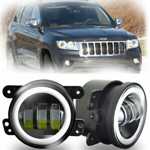 For Jeep Grand Cherokee 2011 2013 2pcs 4 Inch Led Halo