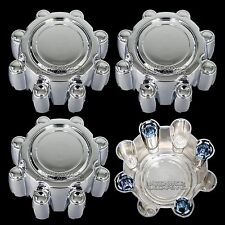 4 Chrome FORD F250 F350 SD Excursion 8 Lug Wheel Center Hub Caps Rim Dust Covers