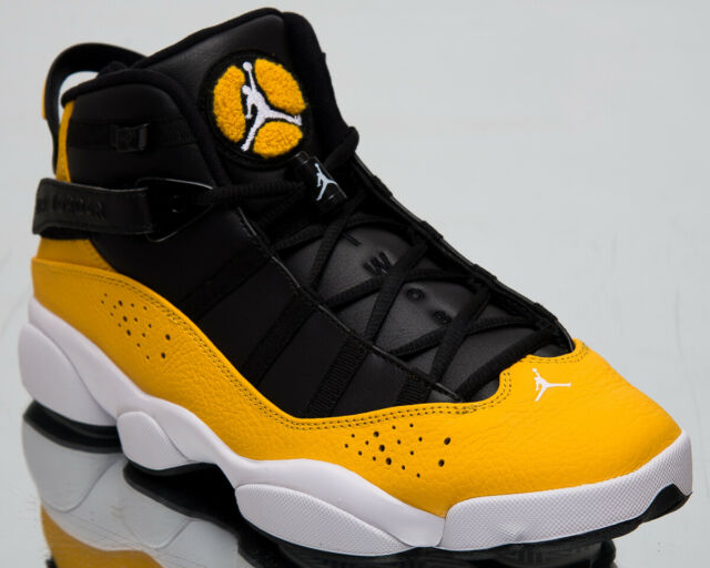 3547946478a24 Jordan 6 Rings Taxi Mens Gold Black White Casual Lifestyle Sneakers  322992-700