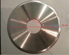 lama di ricambio per affettatrice diametro 19cm 3 fori distanza 6cm acciaio inox