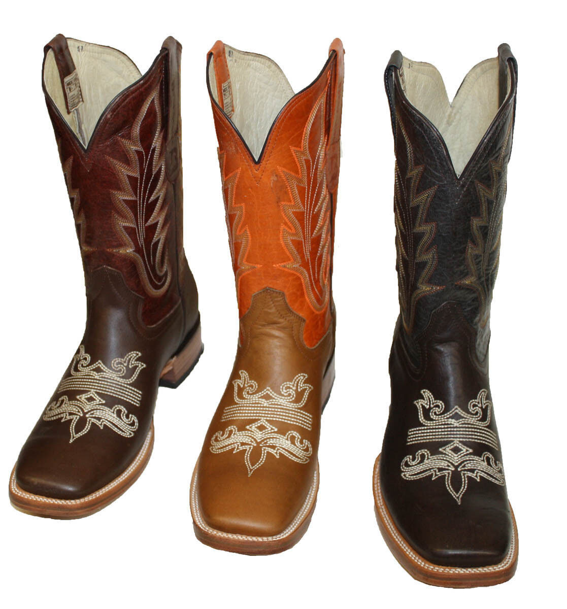 Mens Brand Name Western Square Toe  Cowboy Boot Pull Up Style  C03