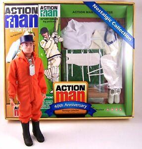 Ensemble de cricket Action Man 40e anniversaire avec figure 12   Action Man 40th Anniversary Cricketer Set W/figure 12