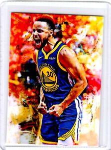 2021 Stephen Curry Golden State Warriors 1/1 Art ACEO Print Card By:Q