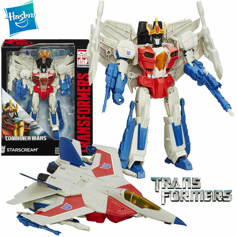 LARGE 9' TRANSFORMERS COMBINER WARS STARSCREAM LEADER CLASS ACTION FIGURES TOY