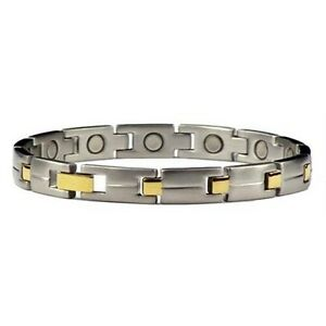 Gold-Plated-Edge-Stainless-Steel-Magnetic-Link-Bracelet