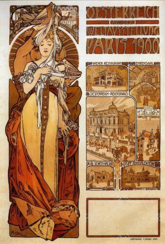 Austria by Alphonse Mucha LARGE A3 Poster Picture Art Nouveau /& FREE Print NEW