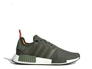 b91276512e7d3 Image is loading Adidas-Nmd-R1-Boost-Olive-Green-Mens-Sneakers-