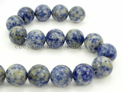 Natural Blue Spot Jasper Gemstone Round Beads 16/'/' 2mm 3mm 4mm 6mm 8mm 10mm 12mm