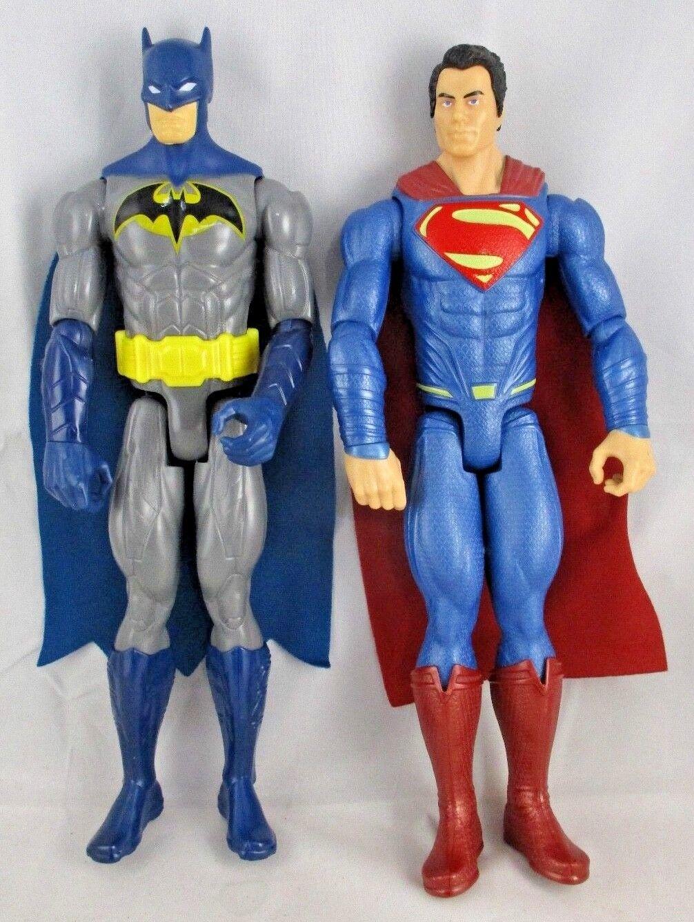 SUPERMAN & BATMAN by Mattel DC Comics 11.5  Action   Moveable Figures