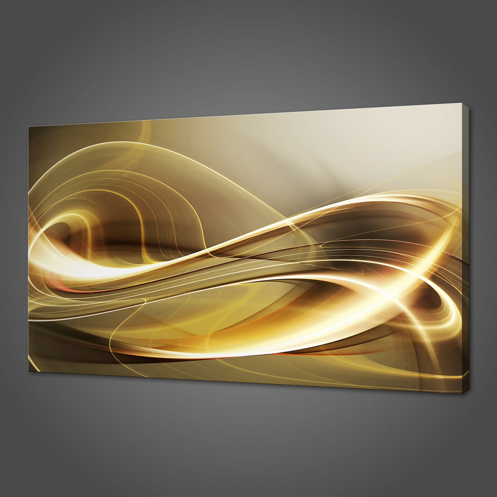 Abstract VAGUE D'OR photo sur toile Imprimer Wall Art Home Decor livraison gratuite