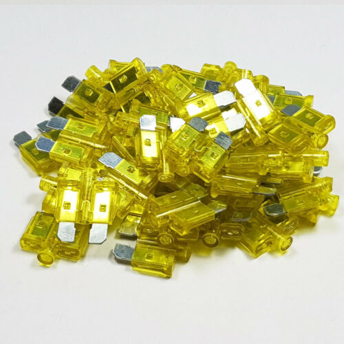 20 Amp Yellow Standard Glow Blow 20A Amps A Blade Fuses LED Smart Car Auto Van