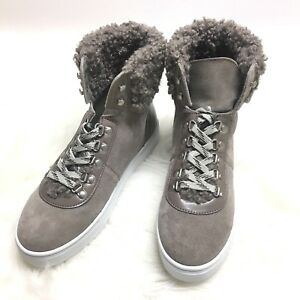761e4b335608 Sam Edelman Luther Suede Faux Shearling High Top Sneaker Putty Size ...
