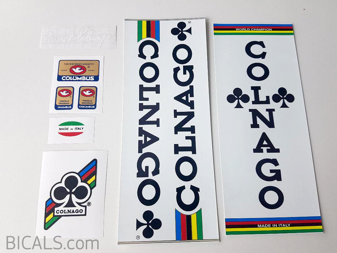 COLNAGO MEXICO white panel bicycle decal set - ON CHROME  FOIL free shipping  creative products