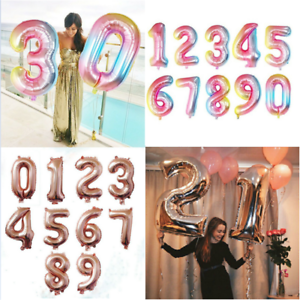 40-034-Rose-Gold-Number-Large-Foil-Helium-Balloon-Wedding-Birthday-Party-Decor-Cute