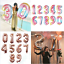 40-034-Rose-Gold-Number-Large-Foil-Helium-Balloon-Wedding-Birthday-Party-Decor-Cute thumbnail 1
