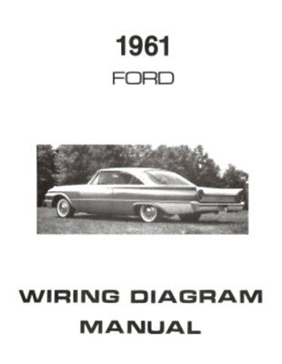 ford 1961 galaxie, ranch wagon & country squire wiring diagram manual ebay 1964 f100 wiring diagram made easy wiring diagram 1964 ford ranch wagon #15