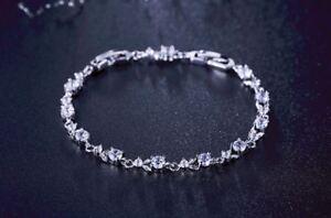Bracelet-Crystal-Rose-Gold-Silver-Women-Jewelry-18K-Platinum-Plated-Rhinestone