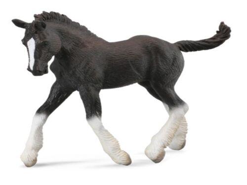 Shire Fohlen schwarz 10 cm Pferdewelt Collecta 88583