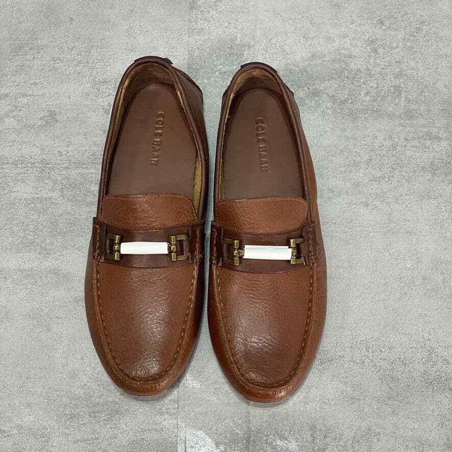 COLE HAAN Woodbury Brown Leather Somerset Link Bit II Loafer SZ 8M