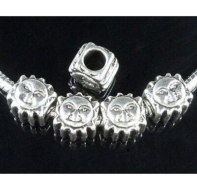 30pcs Tibetan Silver Turtle Beads Fit European Charm Bracelet ZY168