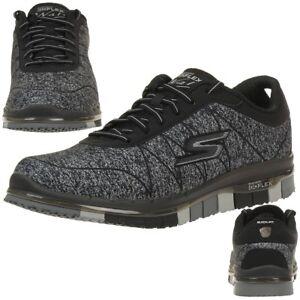 huge selection of 4d855 c102c Details zu Skechers Damen GO Flex Ability Sneakers Damen Fitnessschuhe Walk  schwarz