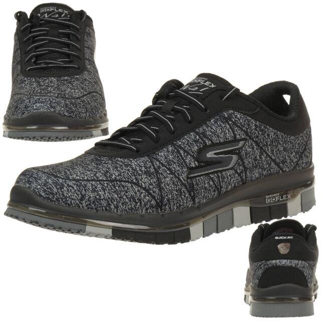 Skechers Mujer Go Flex Ability Zapatillas Zapatos para fitness Caminar Negro