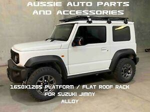 Platform Flat Alloy Roof Rack 1650mm For Suzuki Jimny 2019 With Gutter Brackets Ebay