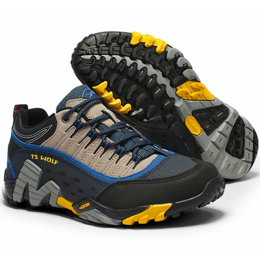 Men Outdoor Hiking shoes Waterproof Breathable Pu Leather shoes Sneakers