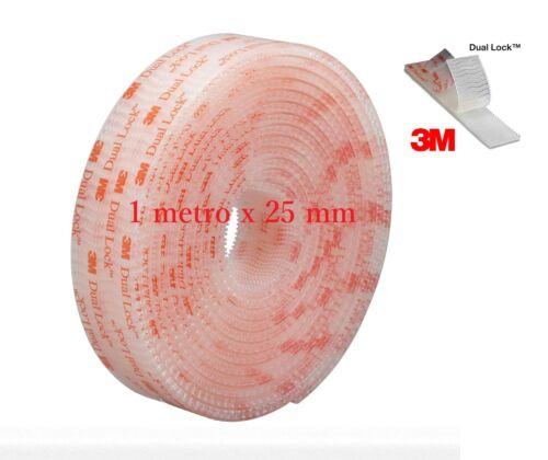 3m Dual lock SJ 3560   adesivo 1 METRO X25 MM GOPRO TELEPASS CRUSCOTTO 1 pz