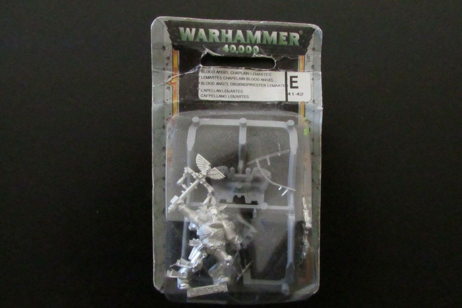 OOP Citadel   Warhammer 40k   Space Marines Blood Angels Chaplain Lemartes BNIB