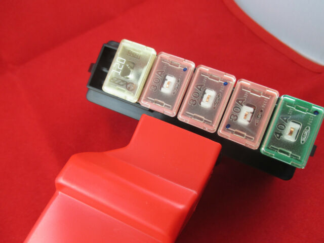mazda rx 7 rx7 main fuse block connected to the battery 1993 to 1995 rh ebay com 12 Volt Battery Fuse 100 Amp Battery Fuse