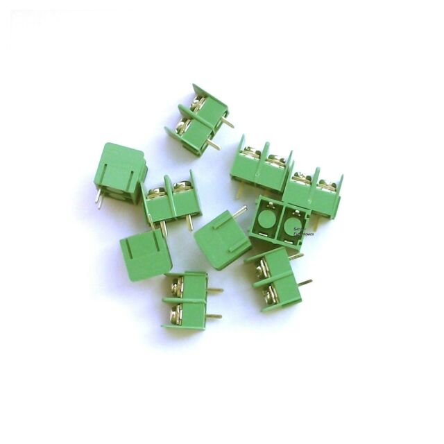 10pcs 2 Pin Barrier Terminal Block Connector 7.62 mm Pitch 300V 20A