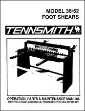 Tennsmith Model 3652 Foot Shears Manual
