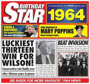 50th-Birthday-Gifts-1964-Chart-Hits-CD-and-1964-Birthday-Card