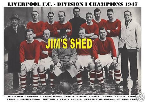 DIVISION 1 CHAMPIONS LIVERPOOL  F.C TEAM PRINT 1947