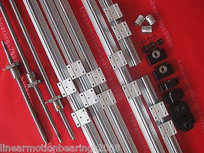 3 linear Rails SBR16 sets +3 ballscrews RM1605+3p BK12 BF12 +3 couplers for CNC