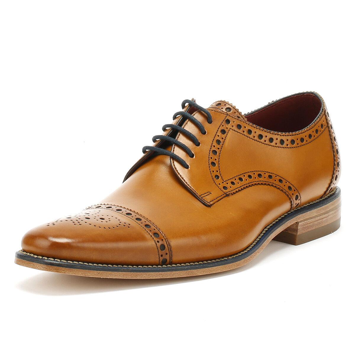 Loake Mens Tan braun Calf Leather Foley Brogue Formal schuhe