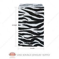1000 Zebra Print Gift Bags Merchandise Bags Paper Bags 4x 6