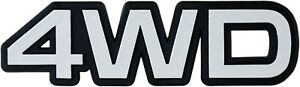 Auto-3D-Relief-Schild-4WD-silbergrau-4-WD-Emblem-10-cm-HR-Art-14877