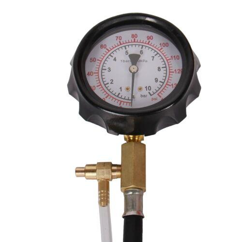 140 PSI Gasoline Fuel Injection Pump Pressure Gauge Tester Test Tool Kit w// Case