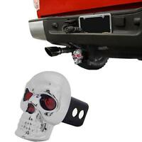 Hitch Cover Truck Suv Car Trailer Led Eye Skull Receiver Plug 2 1.25 Abs Chrome